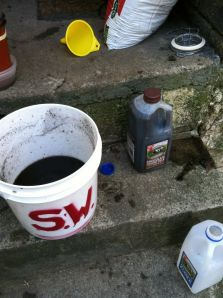 One pound of worm castings in One gallon of water will go a long way to fertilize your plants